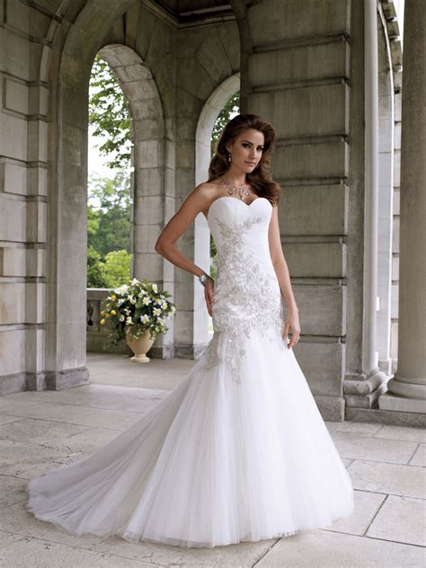 sweetheart strapless mermaid wedding dresses and