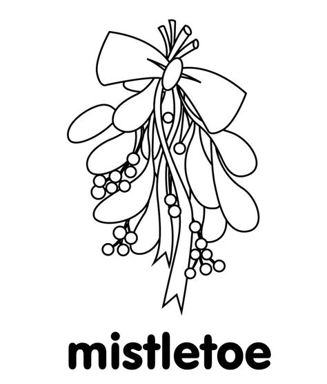 mistletoe coloring pages mistletoe coloring pages best coloring pages for