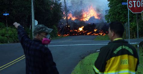 6 foot lava l hawaii volcano a struggle for normalcy in the shadow of