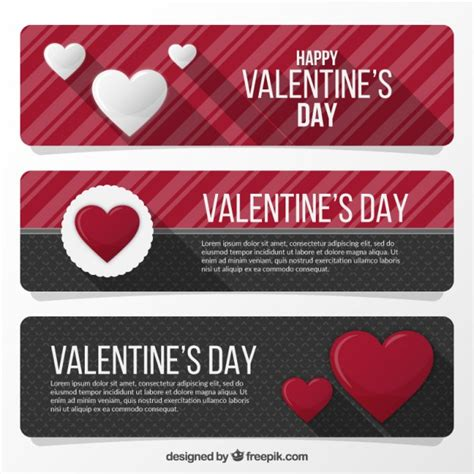 day banners free valentines day banners vector free