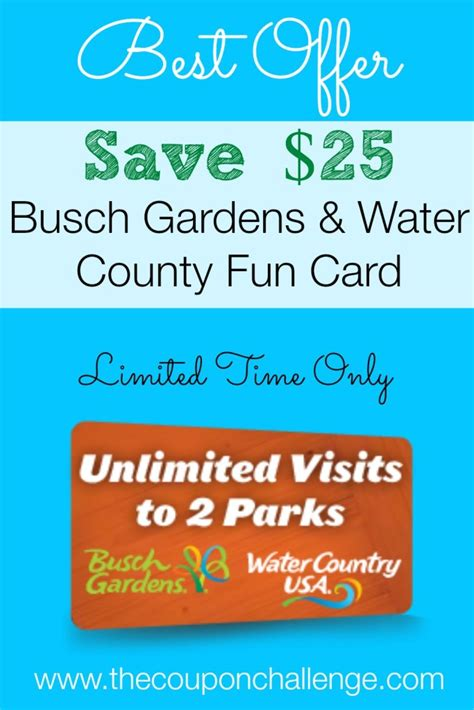 Gardens Coupon by Busch Gardens Archives The Coupon Challenge