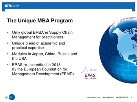 Mba In Technology Management Globe by Mba Eth Scm Program