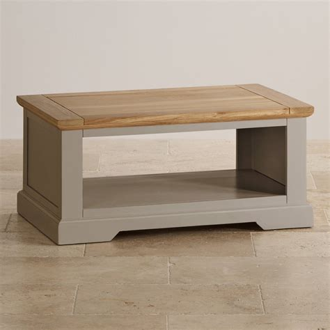 Painting Coffee Table St Ives Grey Coffee Table With Brushed Oak Top