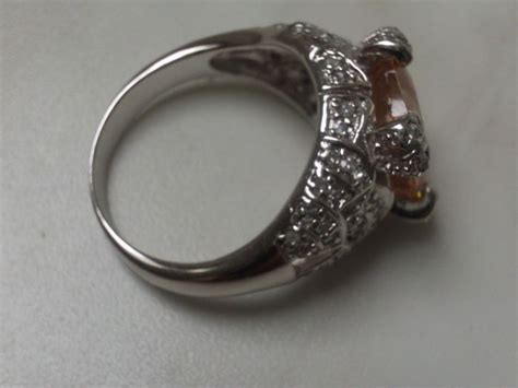 925 silver ring with approx gold beryl catawiki
