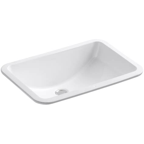 kohler square bathroom sinks shop kohler ladena white undermount rectangular bathroom