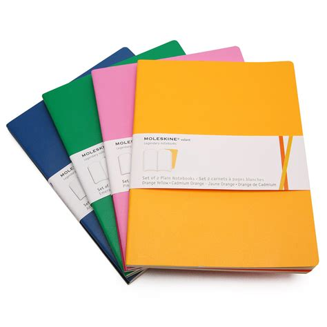 moleskine volant notebook moleskine volant large plain notebook set of 2 7