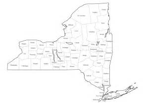 map with county lines new york map with county lines