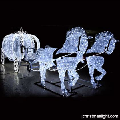 lighted christmas horse and carriage event decorative outside led carriage ichristmaslight