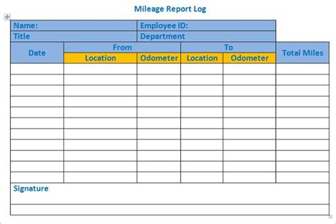 44 Mileage Log Templates Free Word Excel Pdf Format Employee Log Template Excel