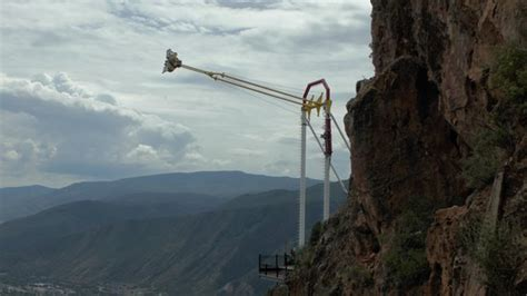 glenwood springs canyon swing giant canyon swing picture of glenwood caverns adventure
