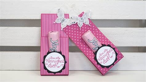 kleine geschenkverpackung basteln tutorial yogurette verpackung basteln mit papier