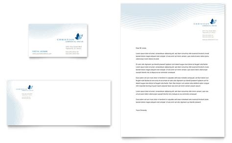 Christian Ministry Business Card Letterhead Template Word Publisher Microsoft Templates Letterhead