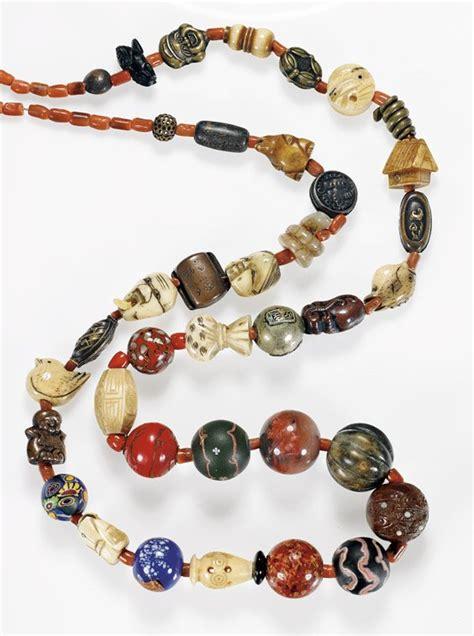 antique japanese ojime bead necklace lot 111