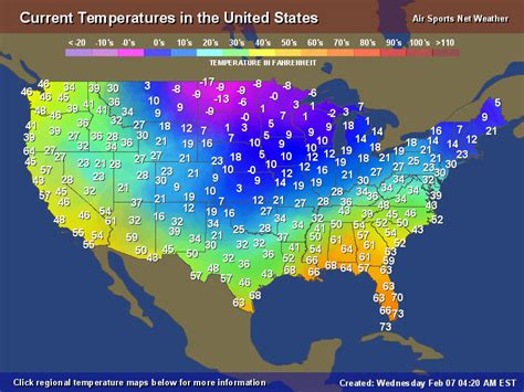 weather map of us for tomorrow temperature map for the united states