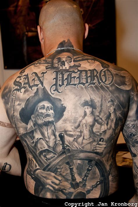 pirate themed tattoos copenhagen inkfestival 2012 backpiece with
