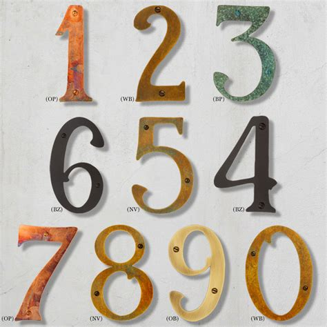 house numbers solid brass house number
