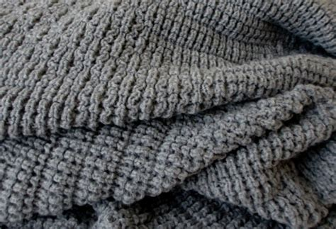 gray knit blanket knitted blanket afghan throw medium gray by tgknits on etsy