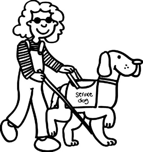 walking dog coloring page beautiful girl with disability walking with dog coloring
