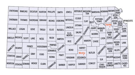 map of kansas cities and towns kansas county map