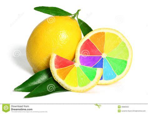 colorful lemon wallpaper colorful rainbow lemons fruit stock photo image 48883032