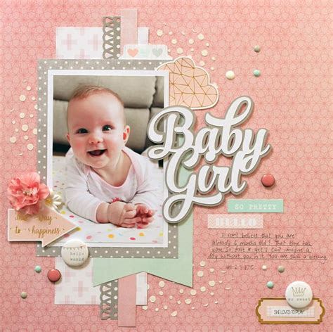 scrapbook layout ideas for baby girl 646 best baby girl scrapbook page layouts images on