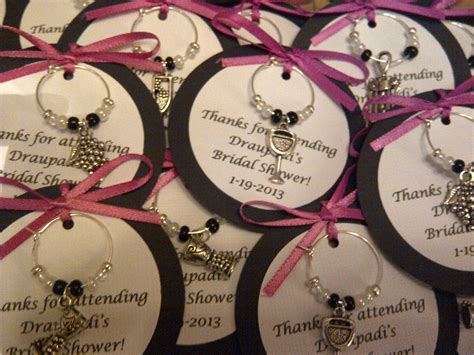 5 45 custom wine themed wine charm favors weddings bridal