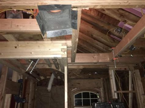Ceiling Sistered Joists Preventing Rafter Sistering
