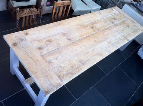 ana white reclaimed timber farmhouse table  build