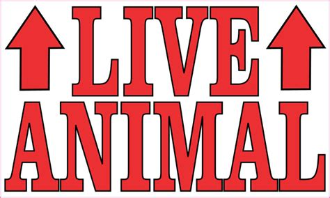 printable live animal stickers 5in x 3in red live animal sticker vinyl cage sign decal