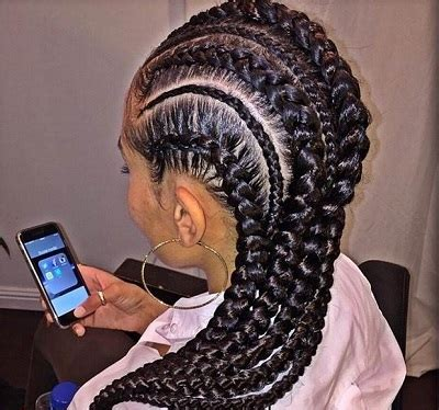 alternating fat and skinny cornrow hairstyles deviating width cornrows new2natural hair care and