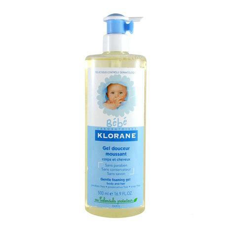klorane bebe gentle foaming gel hair and 500ml