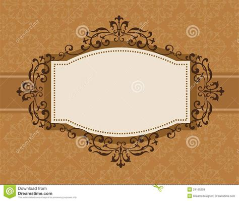 retro invitation background stock vector image 24165259