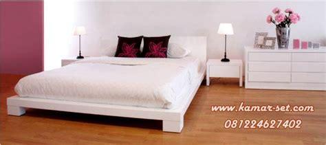 Ranjang Kayu Pendek tempat tidur set minimalis pendek elegan ksm 203 kamar set kamar set
