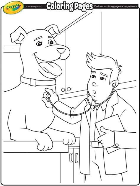 coloring pages veterinarian veterinarian crayola ca