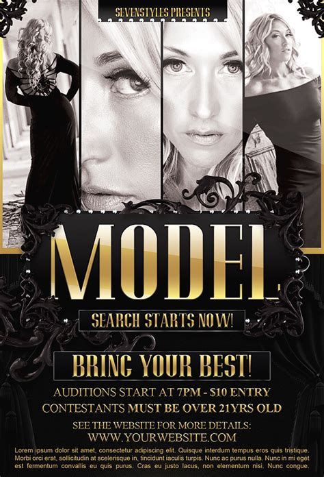 template flyer model model flyer template by 7styles on deviantart