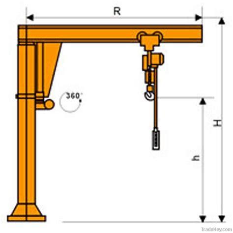 swing jib column mounted swing jib crane heavy duty workshop