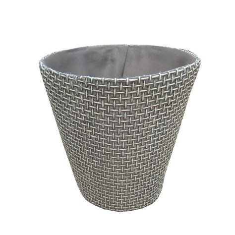 waste paper basket buy grey woven paper round waste paper bins from the