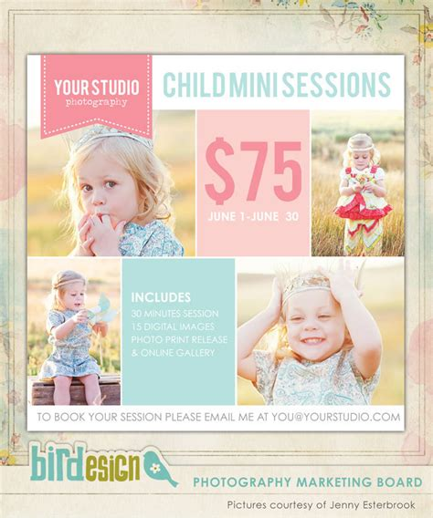 free photography templates photography marketing board newsletter template by birdesign