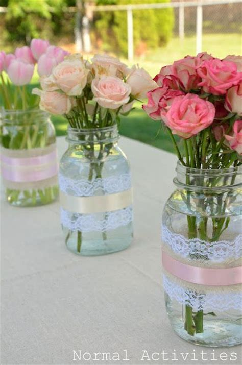 Bridal Shower Centerpieces by Jar Centerpiece Ideas