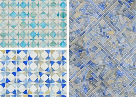 new tile designs miraflores from new ravenna mosaics global lighting