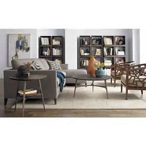 Side Table For Sectional Sofa Harrison Cognac 60 Quot Desk With Hutch Coffee Tables Sectional Sofas And Crate And Barrel