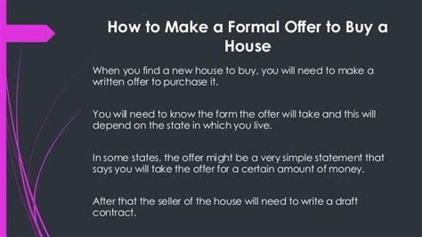 how to prepare to buy a house how to make a formal offer to buy a house