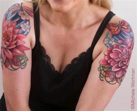 cap sleeve tattoo sugar skull tattoos sleeve and half sleeves on