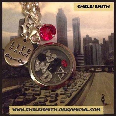owl tattoo the walking dead origami owl walking dead locket jewelry pinterest i