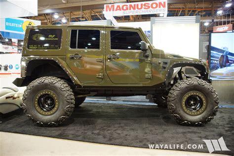 sema jeep 2016 2016 sema magnaflow jeep jk wrangler unlimited