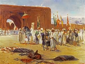 American Duvet Cover Moorish Procession Painting By Jean Joseph Benjamin Constant