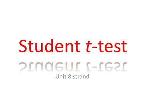 student s t test student t test