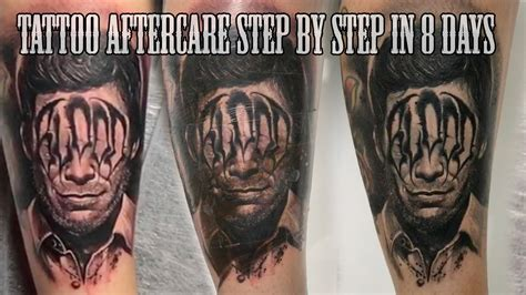 best tattoo care best aftercare step by step in 8 days