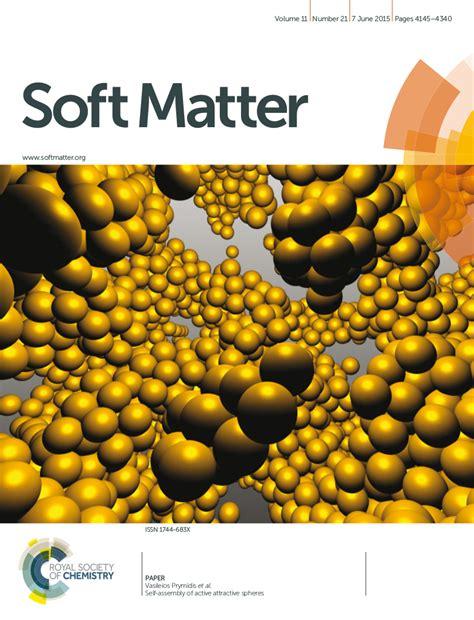 soft matter dr filion