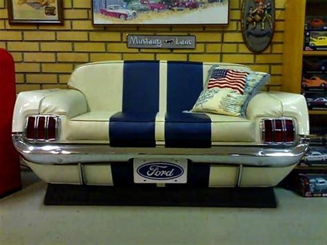 60s Mustang Couch Man Cave Pinterest